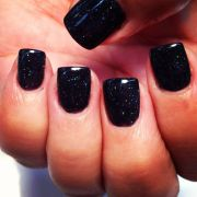 sculptured black sparkle acrylic