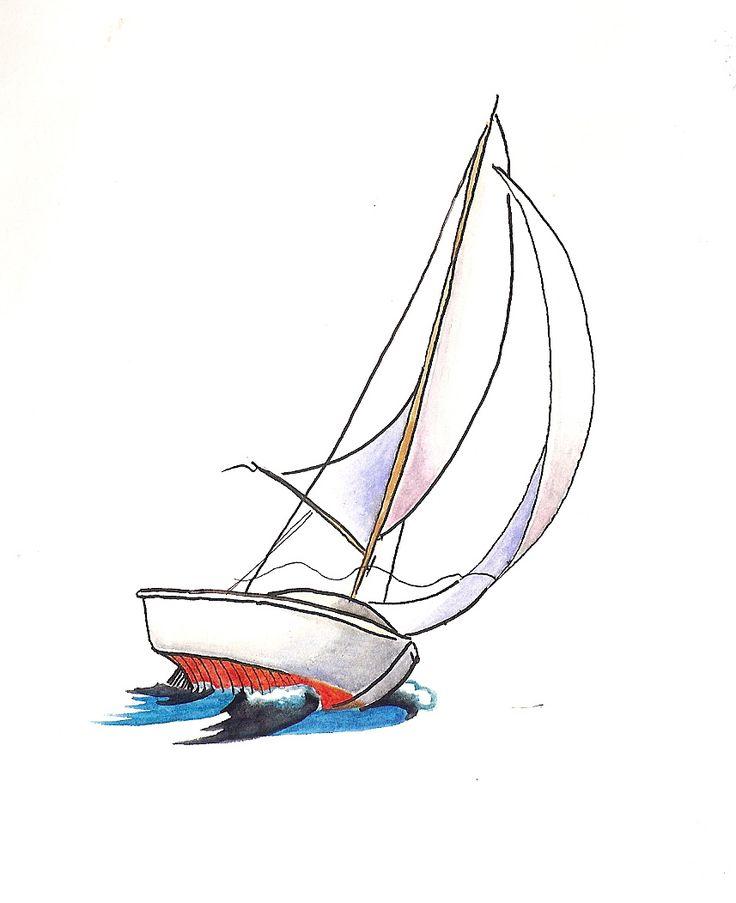 Best 25+ Sailboat drawing ideas on Pinterest