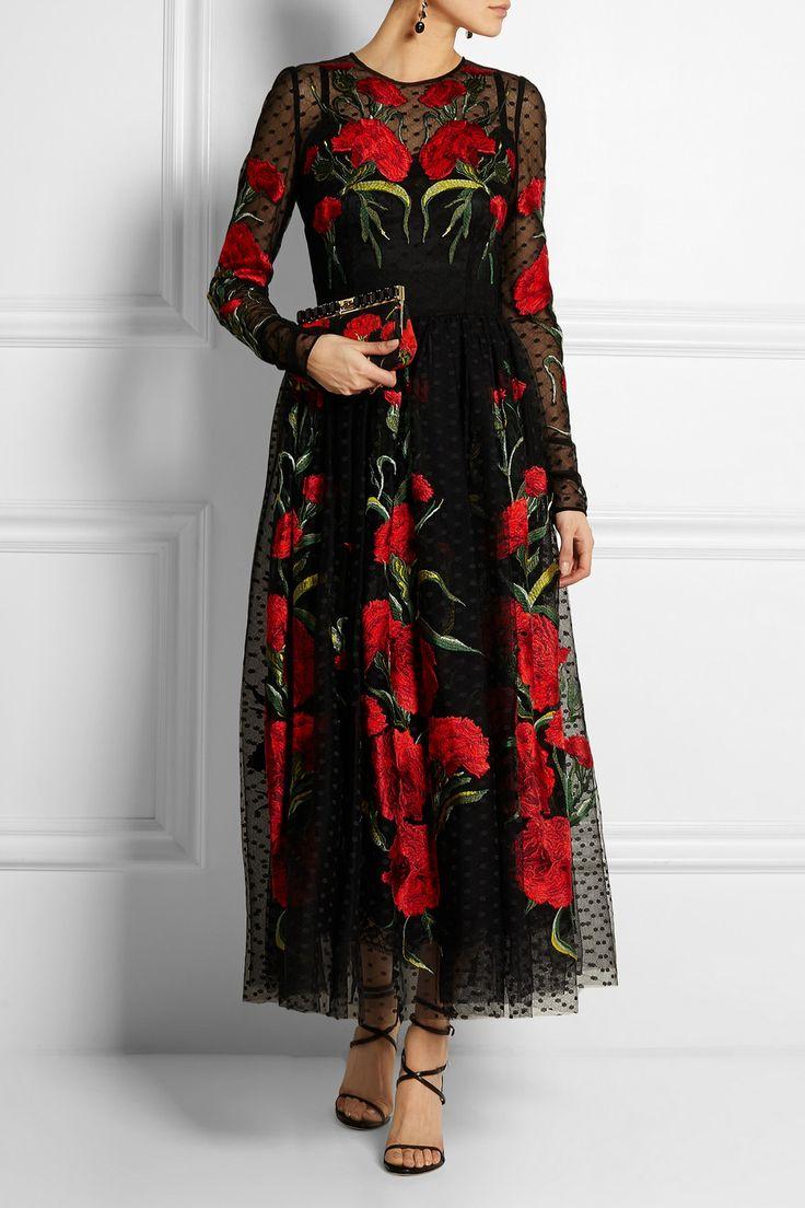 Dolce  Gabbana  Embroidered tulle dress  NETAPORTER