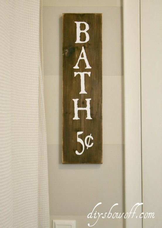 How to make a DIY distressed painted wood plank sign