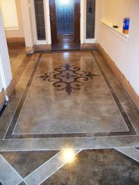 Stenciled and Stained concrete floors | Gorgeous Stenciled ...