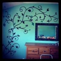 Hand painted wall design | paint | Pinterest | Powder ...