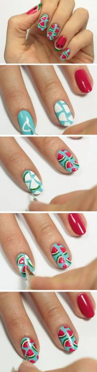 25+ best ideas about Short nails art on Pinterest