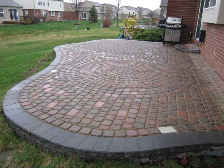 17 Best images about Brick Paver Patios on Pinterest  Fire pits Stamped concrete and Raised patio