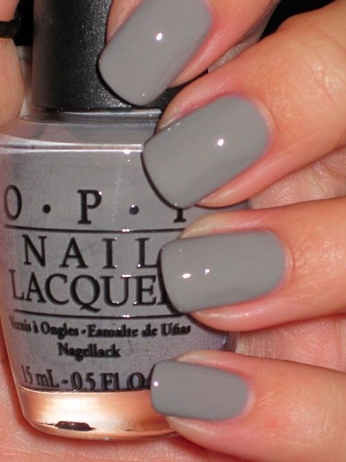 Classic | Gray Is The Best Color For Any Manicure  OPIs French Quarter For Your Thoughts