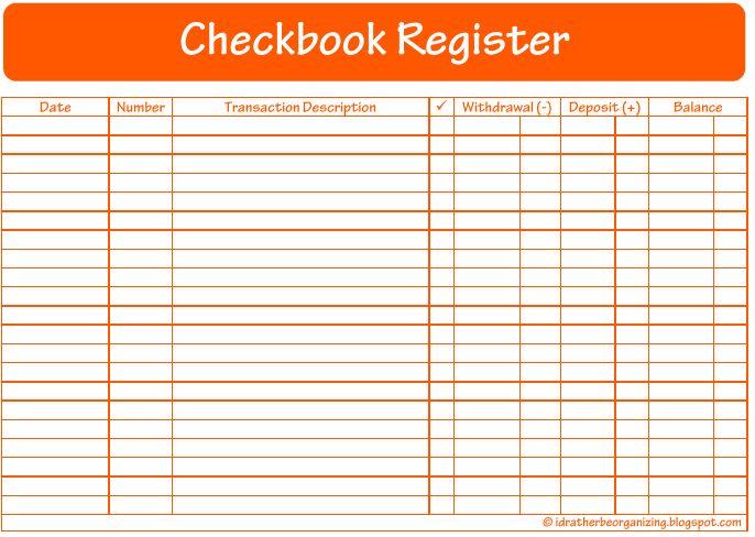 checkbook transaction register printable