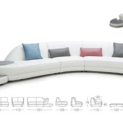 Divani Casa 5106 Modern White Italian Leather Sectional Sofa Compact Muji Pinterest • The World's Catalog Of Ideas
