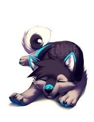Adorable Cute Anime Wolf Pup