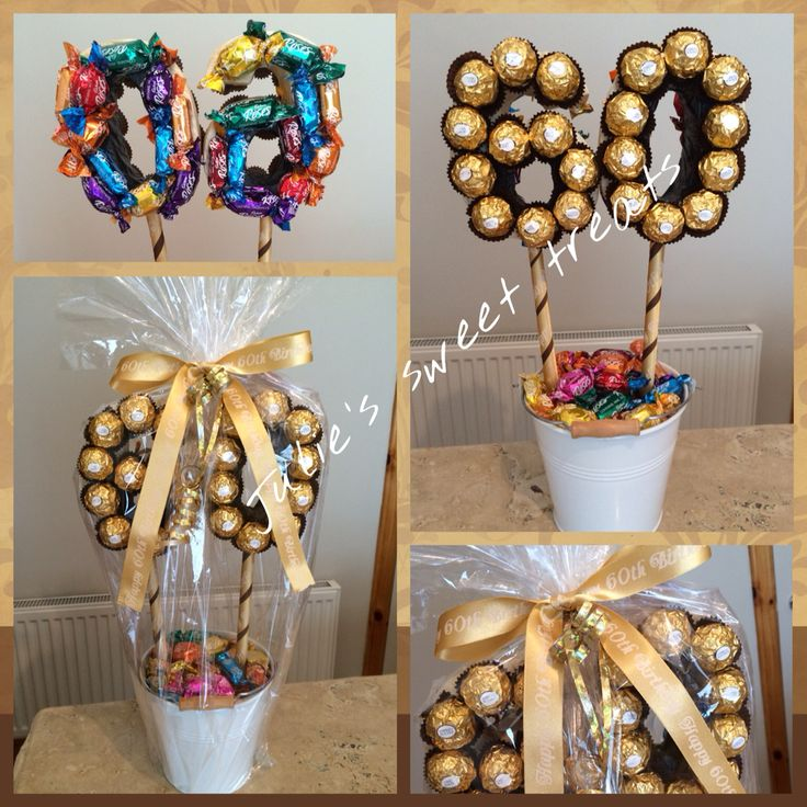 Birthday tree created using a mix of roses  Ferrero rocher 25  candy flowers  Pinterest
