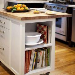 Small Kitchen Carts On Wheels Knife Set Butcher Block Island - Woodworking ...
