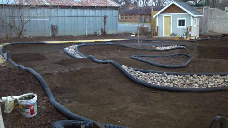 Backyard Radio Control Race Track Landscaping Jobs