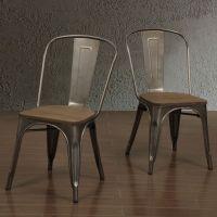 Tabouret Vintage Wood Seat Bistro Chair   Industrial ...