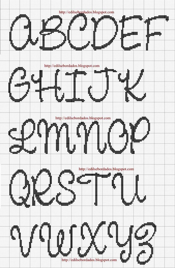 17 Best images about Cross stitch and blackwork alphabets