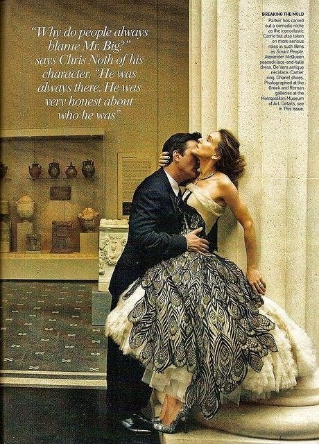 mr big and carrie bradshaw vogue  swoon  Pinterest