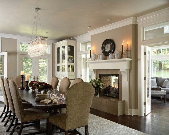 25+ Best Ideas About Dining Room Fireplace On Pinterest