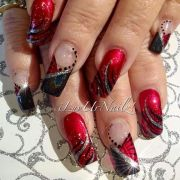 red black nails ideas
