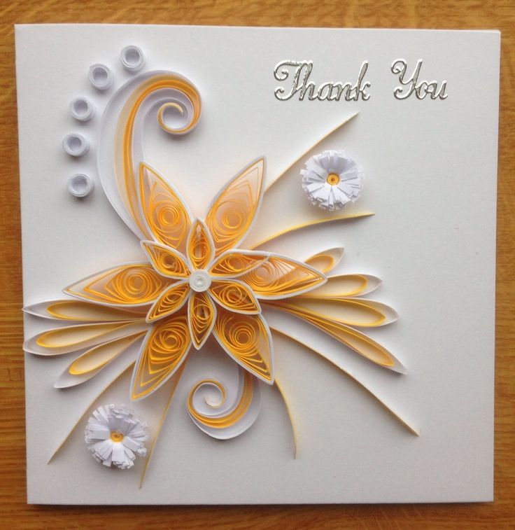 Quilling Thank You Card November2013 Crafts Paper Crafts