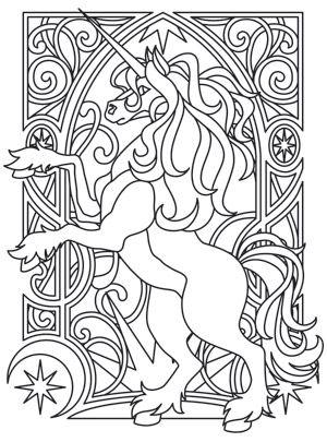Unicorn Nouveau design (UTH7551) from UrbanThreads.com