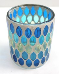 Small Mosaic Candle Holder ~ This looks do