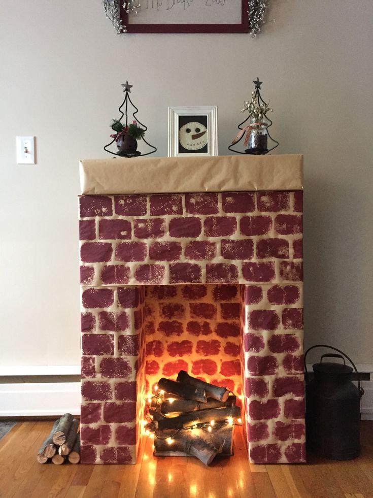 Best 25+ Cardboard fireplace ideas only on Pinterest
