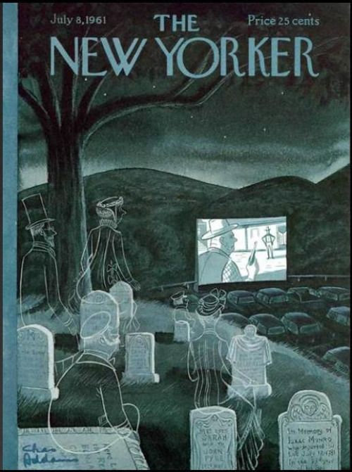 fuckyeahvintageretro The New Yorker cover July 1961