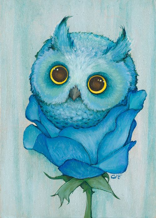 Cute Little Sister Wallpaper Caged Open Edition Fine Art Print Originals Owl And
