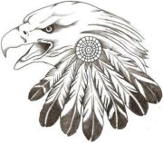 native american feather tattoo