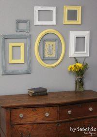 Baby Nursery Decor / Wall Letter / Monogram Frame / Yellow ...