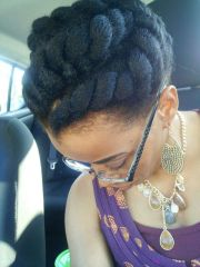 jumbo flat twist natural hairstyles