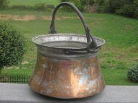 Fireplace Bucket Kettle Pot Brass Copper Hand Forged ...