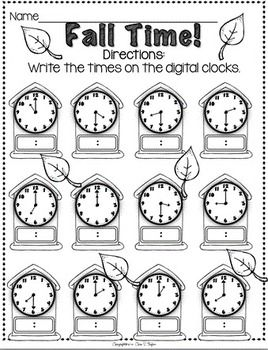 Free Printable Cut And Paste Telling Time Worksheets