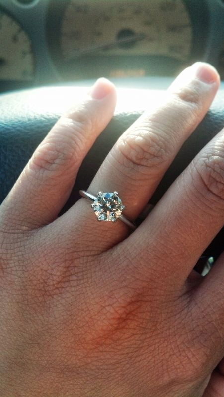 A 6 Prong Round Solitaire Setting With A Knife Edge Band