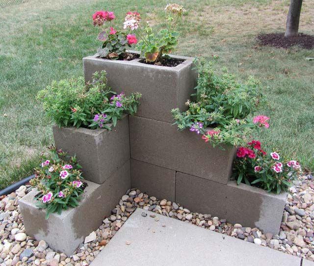 25 Best Ideas About Concrete Blocks On Pinterest Flower Garden