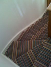 8 best images about Striped stairways with a turn on ...