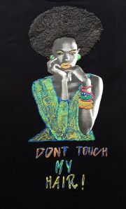 afro t-shirt painting 3d natural
