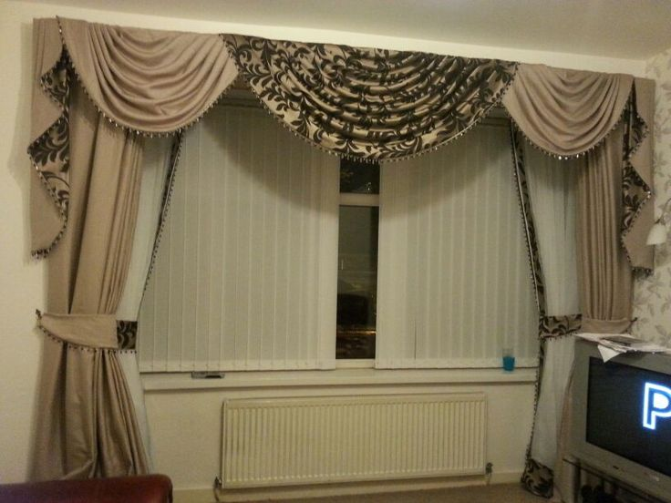 Stunning Swags And Tails With Double Curtains Curtain