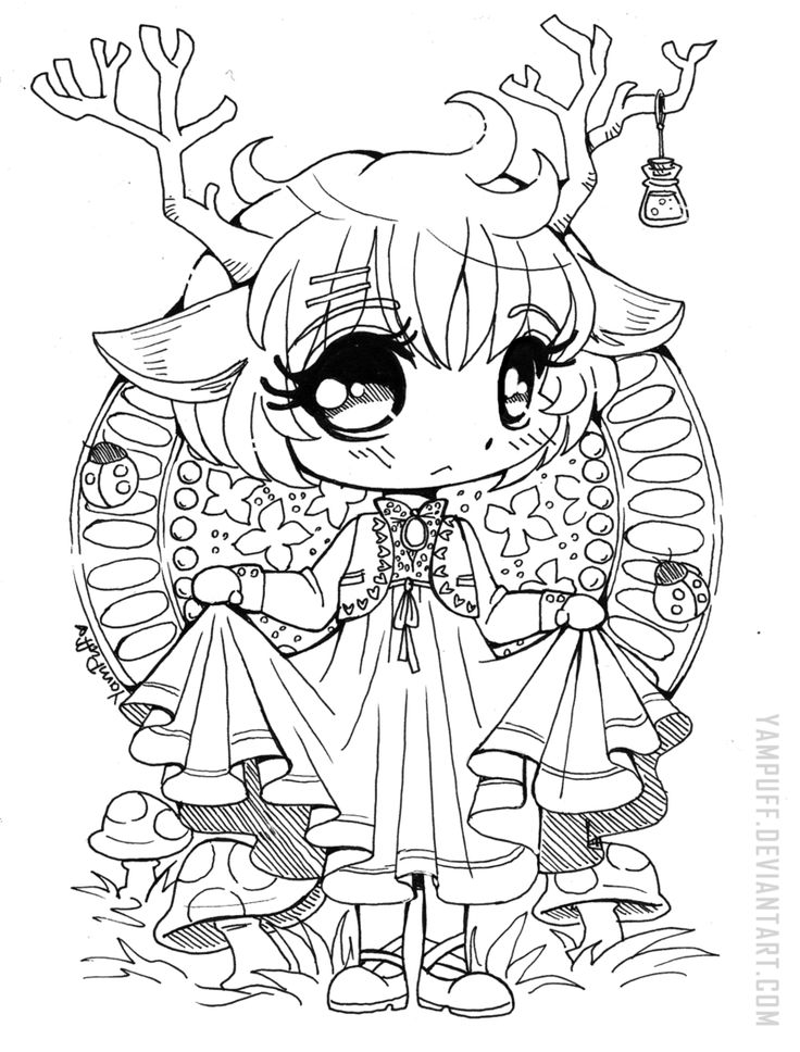 577 best images about Chibi coloring and pictre on