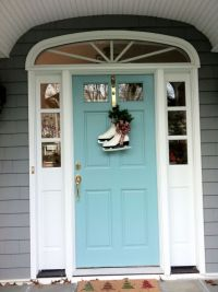 Front Door color: Sherwin Williams Drizzle, turquoise ...