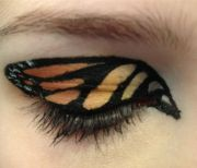 monarch butterfly eye makeup. gorgeous