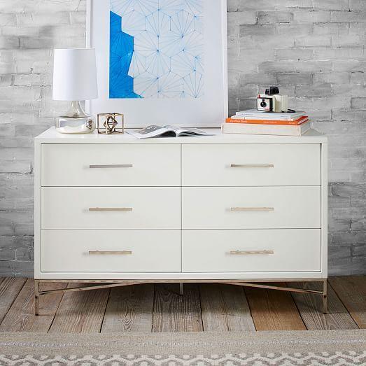 City Storage 6Drawer Dresser  White  west elm  Bedroom  Pinterest  Indigo Wanderlust and