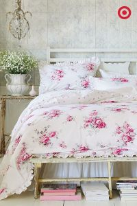 This rose bedding set from Simply Shabby Chic will have ...