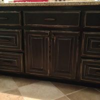 Distressed black cabinets | Cabinets | Pinterest | In ...