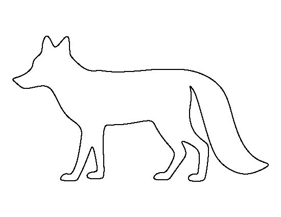 Fox pattern. Use the printable outline for crafts