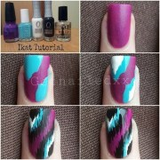 cute and easy nail design purple