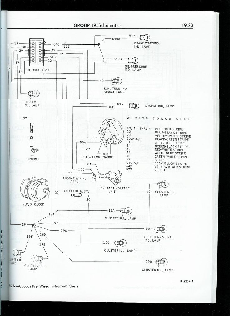 1968 Mustang Tach Wiring 1967 Mustang Wiring To Tachometer Click Image For Larger