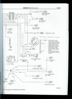 1967 mustang wiring to tachometer | Click image for larger