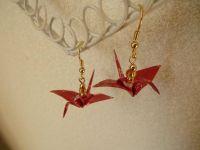 DIY Origami Crane Earrings | videos | Pinterest | Origami ...