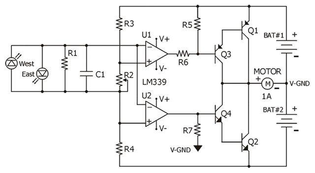pin solar tracker schematic on pinterest