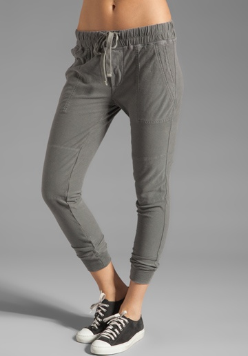 Air plane clothes – JAMES PERSE Jersey Twill Surplus Pant in Silverfox at Revolv