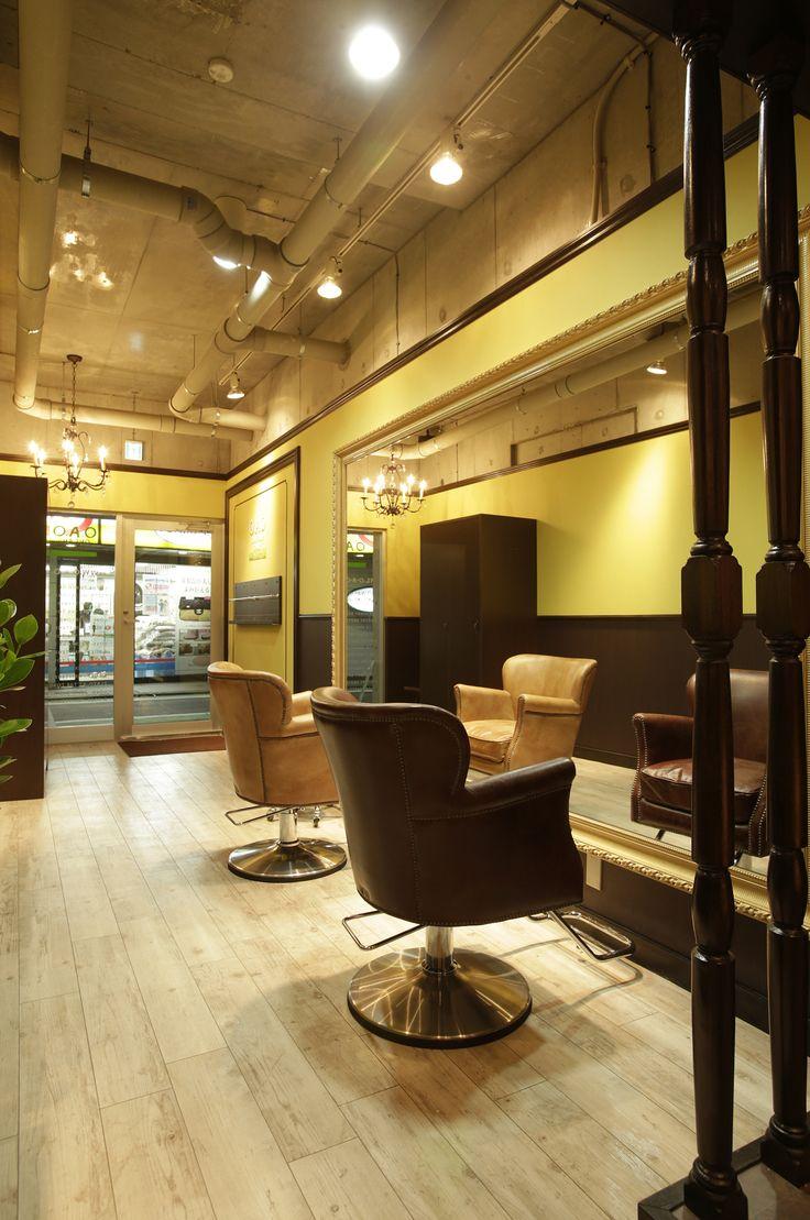 beauty salon waiting area chairs chair stool black interior design ideas | + hair space decor designs tokyo japan follow ...
